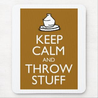 Behalten Sie ruhiges und Throw-Material Mousepad