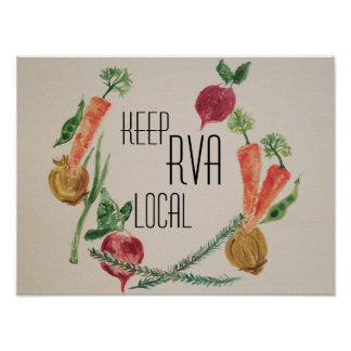 Behalten Sie RVA Einheimisches Poster