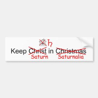 Behalten Sie Saturn im Saturnalia Autoaufkleber