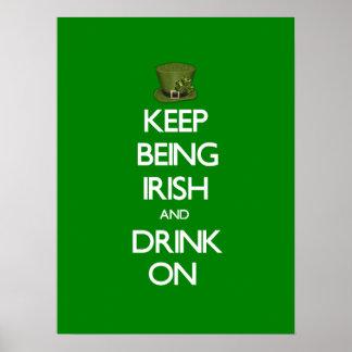 Behalten Sie Sein irisch Poster