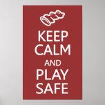 Behalten Sie sicheres kundenspezifisches Plakat de