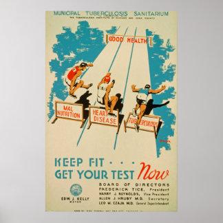 Behalten Sie Sitz, Ihr Test-Vintages Plakat jetzt