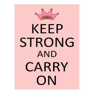 Behalten Sie stark und machen Sie weiter Postkarte
