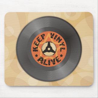 Behalten Sie Vinyl lebendig Mauspads