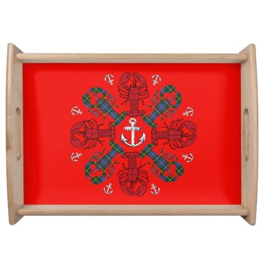 Behälter Hummer-Schneeflocke-Anker N.S. Christmas Tabletts