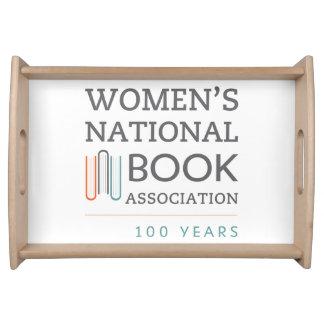 Behälter mit WNBA 100 Jahre Logo Serviertabletts