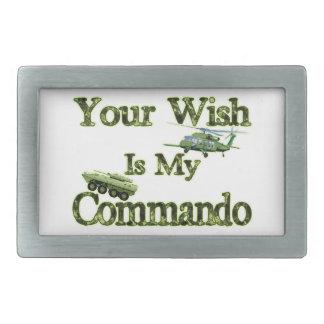 Behälter und Heli Ihr Wunsch ist mein Kommando Rechteckige Gürtelschnalle