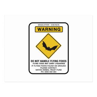 Behandeln Sie nicht Flughunde, Verkehrszeichen, AU Postkarten