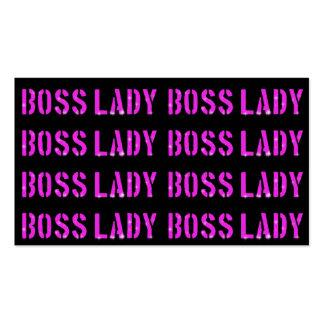 """Beherrschen Sie Dame Business, 3,5"""" x 2,0"""", 100 Visitenkarten"""