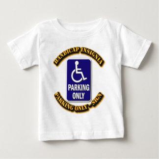 Behindern Sie Insignien, Handikapzeichen, Baby T-shirt