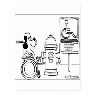 Behinderter zugänglicher Hydrant Postkarte