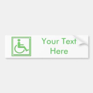 Behindertes stilvolles Symbol-Grün Autoaufkleber