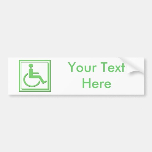 Behindertes stilvolles Symbol-Grün Auto Aufkleber