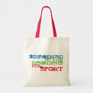 Behinderung ist kein Hindernis für Sport Budget Stoffbeutel