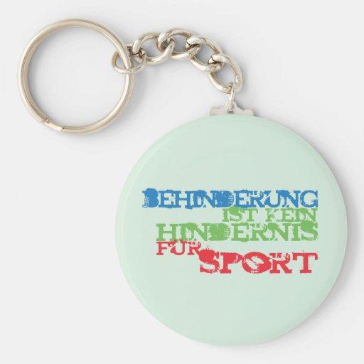Behinderung ist kein Hindernis für Sport Schlüsselband