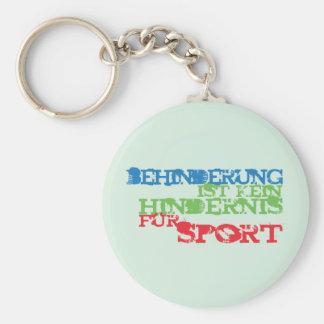 Behinderung ist kein Hindernis für Sport Standard Runder Schlüsselanhänger