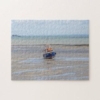 Bei Ebbe Fotopuzzlespiel des Bootes Puzzle