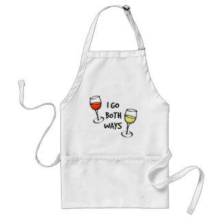 Beide Weisen-Wein-Gläser Schürze