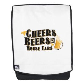 Beifall-Bier-und Mäuseohr-Trinker lustig Rucksack