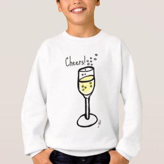 Beifall! Champagne-Skizze durch Jill Sweatshirt