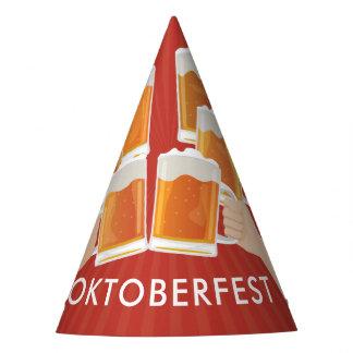 Beifall für Oktoberfest! Biere für jeder! Partyhütchen