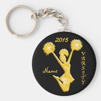 Beifall Keychains mit JAHR und dem NAMEN der Standard Runder Schlüsselanhänger