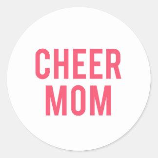 Beifall-Mamma-Druck Runder Aufkleber