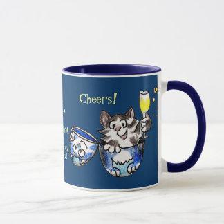 Beifall! Na zdorov'ya! Feiern Sie neue Jahr-Tasse Tasse
