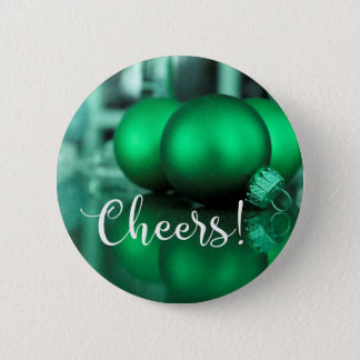 Beifall-Typografie-grünes Verzierungs-Foto Runder Button 5,1 Cm