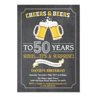 Beifall-und Bier-50. Geburtstags-Einladungs-Karte 12,7 X 17,8 Cm Einladungskarte