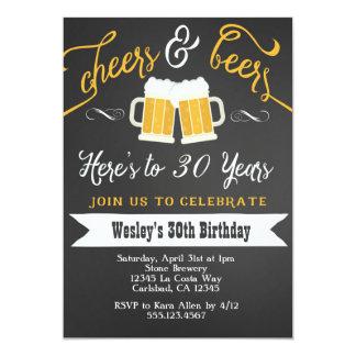 Beifall und Bier-Geburtstags-Party Einladung für