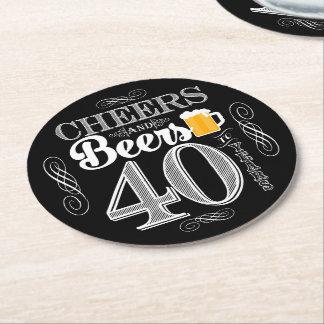 Beifall und Biere zu 40 Jahren Runder Pappuntersetzer