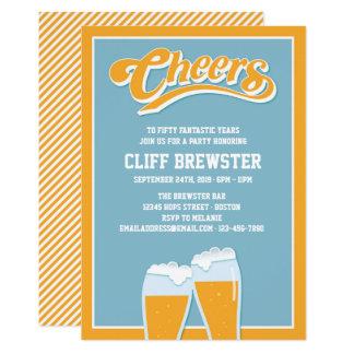 Beifall und Biere zu den Geburtstags-Jahren Karte
