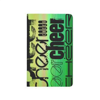 Beifall; Vibrierendes Grünes, orange u. Gelb Taschennotizbuch