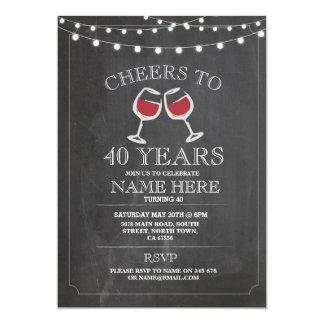 Beifall-Wein-Probieren-Kreide-Geburtstags-Party Karte