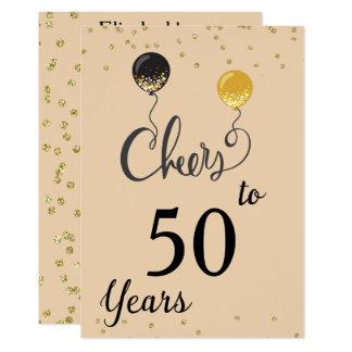 Beifall zu 50 Jahren 12,7 X 17,8 Cm Einladungskarte