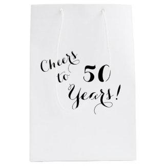 Beifall zu 50 Jahren Geschenk-Taschen- Mittlere Geschenktüte