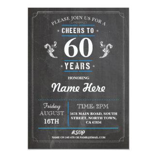 Beifall zu 60 Jahren 50. der Geburtstags-Einladung 12,7 X 17,8 Cm Einladungskarte