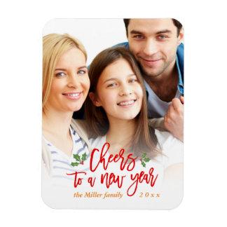 Beifall zu einer neues Jahr-Feiertags-Familie Magnet