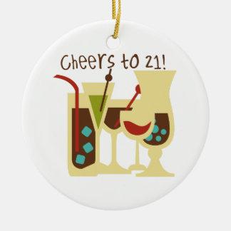 Beifall zu Geburtstag 21 Keramik Ornament