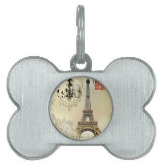 beige Blumenspitzeleuchter-Paris-Eiffelturm Tiermarke