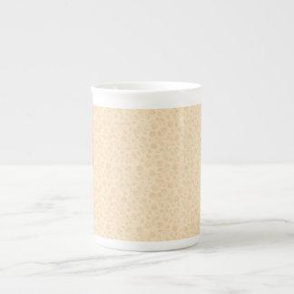 Beige Eleganz-Tee-Tasse Porzellantasse