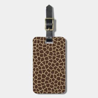 Beige Giraffen-tierischer geometrischer Druck Gepäckanhänger