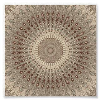 Beige Mandala Fotodruck