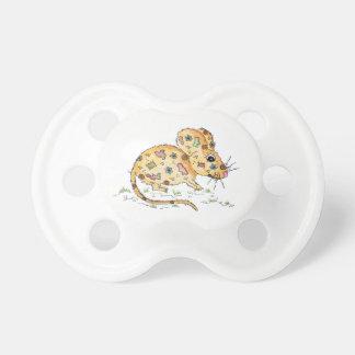 Beige Maus mit Flicken Schnuller