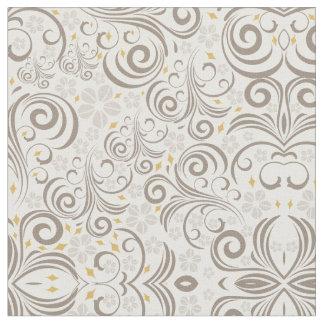 Beige modernes abstraktes symmetrisches stoff