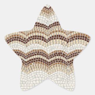 Beige Mosaik-glatter Stern-Aufkleber
