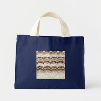 Beige Mosaik-kleine Taschen-Tasche Mini Stoffbeutel