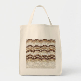 Beige Mosaik-Lebensmittelgeschäft-Tasche Tragetasche