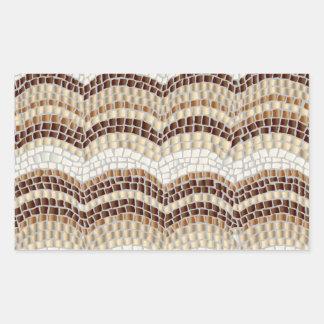Beige Mosaik-Mattrechteck-Aufkleber Rechteckiger Aufkleber